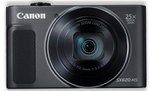 Canon PowerShot SX620HS 20.2MP CMOS 25x Zoom Digital Camera Black - Office Connect