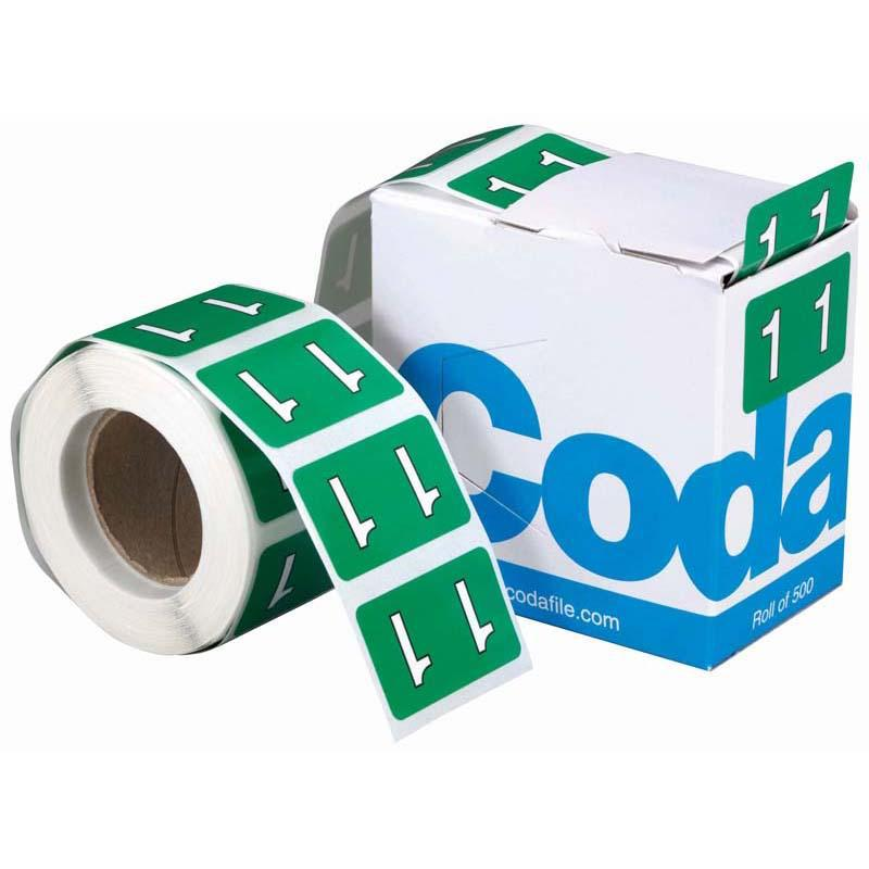Codafile Label Numeric 1 25mm Roll 500 - Office Connect
