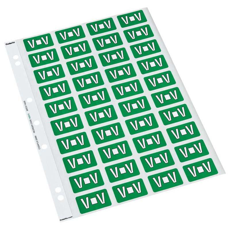 Codafile Label Alpha V 25mm Pack 5 Sheets - Office Connect
