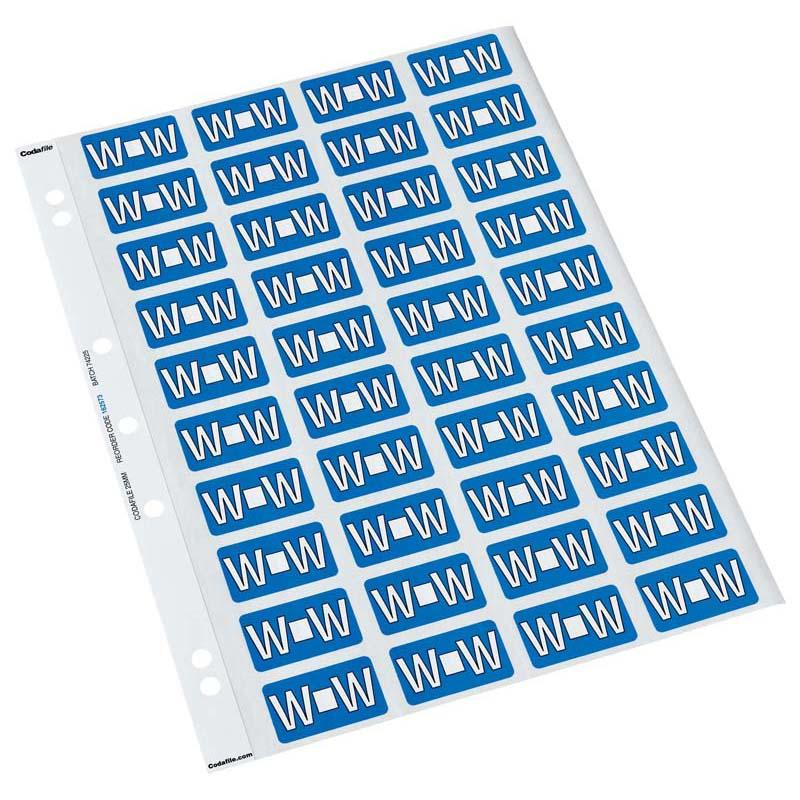 Codafile Label Alpha W 25mm Pack 5 Sheets - Office Connect
