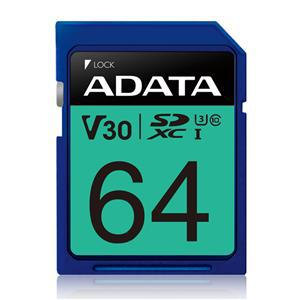 ADATA Premier Pro UHS-I U3 V30 SDXC Card 64GB - Office Connect