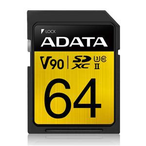 ADATA Premier ONE V90 UHS-II SDXC Card 64GB - Office Connect