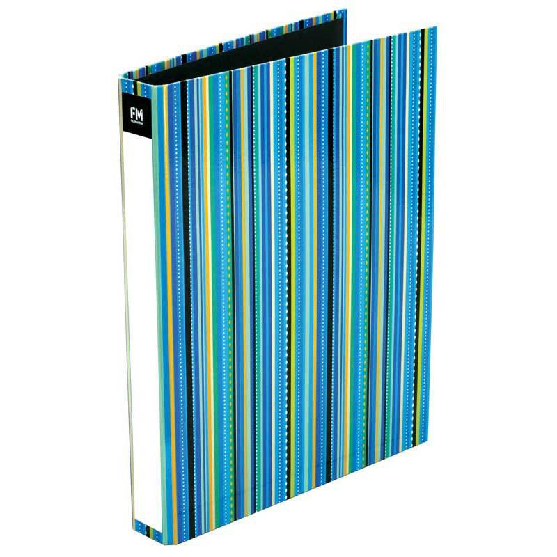 FM Ringbinder Vivid Stripe Ice Blue A4 - Office Connect