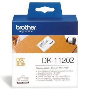 Brother DK11202 300 Shipping/Name Badge Labels 62mm x 100mm - Office Connect