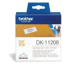 Brother DK11208 400 Large Address Labels 38mm x 90mm - Office Connect