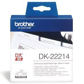 Brother DK22214 Continuous Length Paper Label Tape 12mm x 30.48m - Office Connect