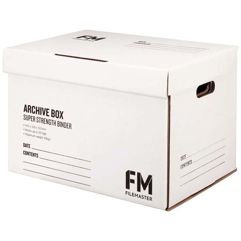 FM Box Archive White Super Strength 462x332x330mm Inside Measure - Office Connect