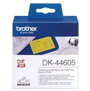 Brother DK44605 Yellow Continuous Removable Paper Tape 54mm x 30.48m - Office Connect