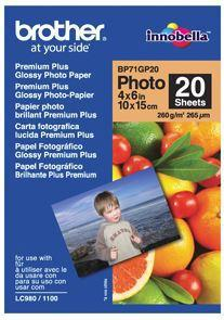 Brother BP71GP20 6x4 Premium Glossy Photo Paper 260GSM 20 Sheets - Office Connect