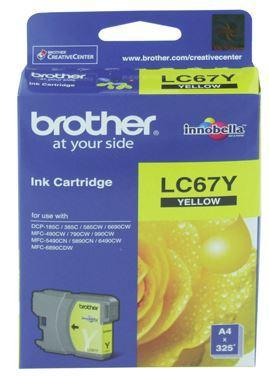 Brother LC67Y Yellow Ink Cartridge - Office Connect