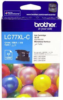 Brother LC77XLC Cyan High Yield Ink Cartridge - Office Connect