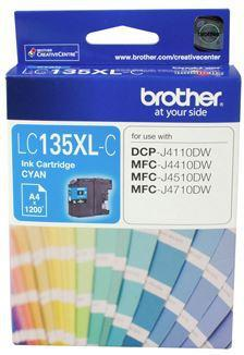 Brother LC135XLC Cyan High Yield Ink Cartridge - Office Connect