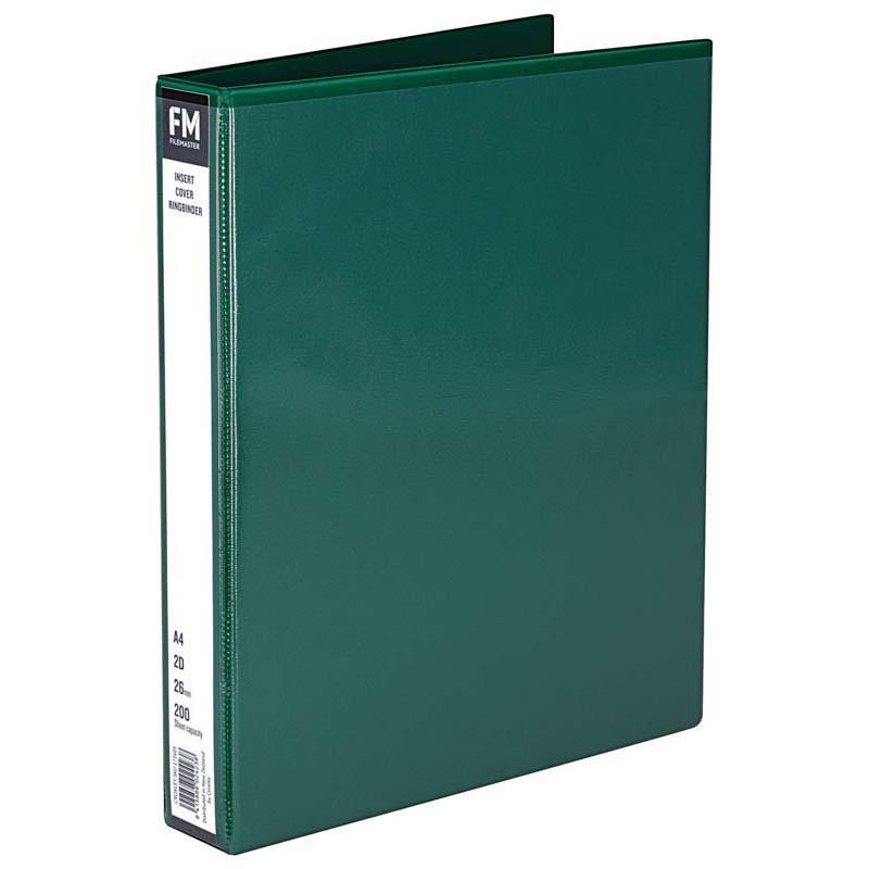 FM Binder Overlay A4 2/26 Green Insert Cover - Office Connect