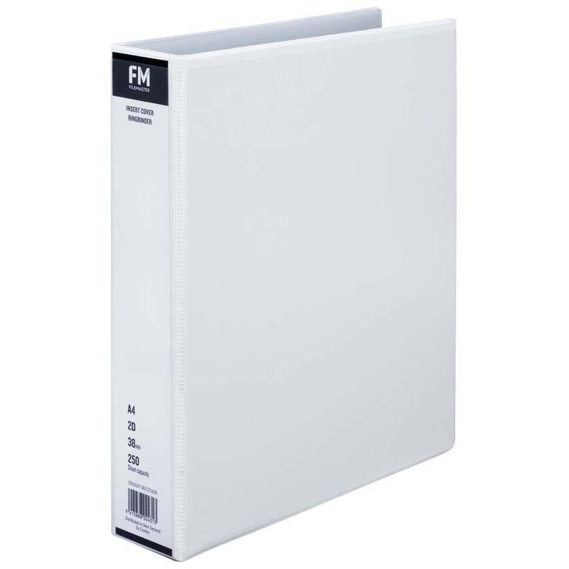 FM Binder Overlay A4 2/38 White Insert Cover - Office Connect