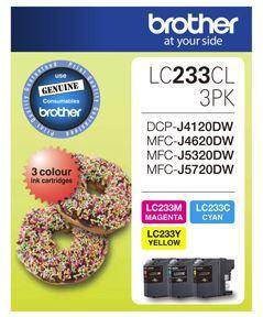 Brother LC233CL3PK CMY Colour Ink Cartridges (Triple Pack) - Office Connect