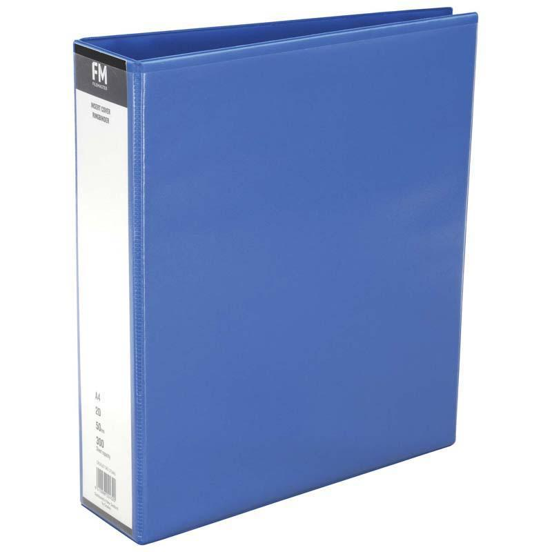 FM Binder Overlay A4 2/50 Light Blue Insert Cover - Office Connect