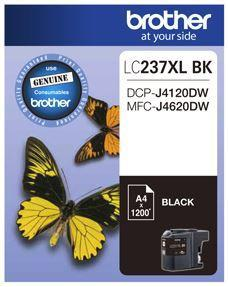 Brother LC237XLBK Black High Yield Ink Cartridge - Office Connect