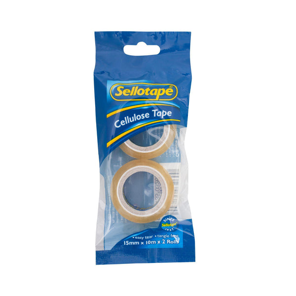 Sellotape 3260 Cellulose 2-Pack 15mmx10m - Office Connect