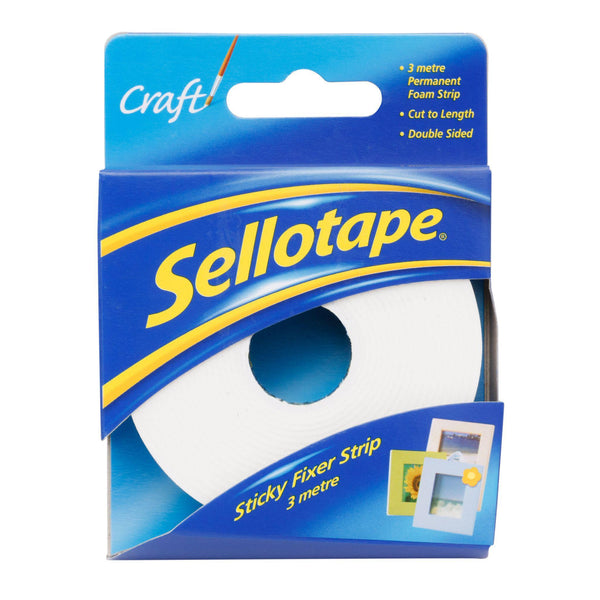 Sellotape 4195 Foam Sticky Fixer Strip 25mmx3m - Office Connect