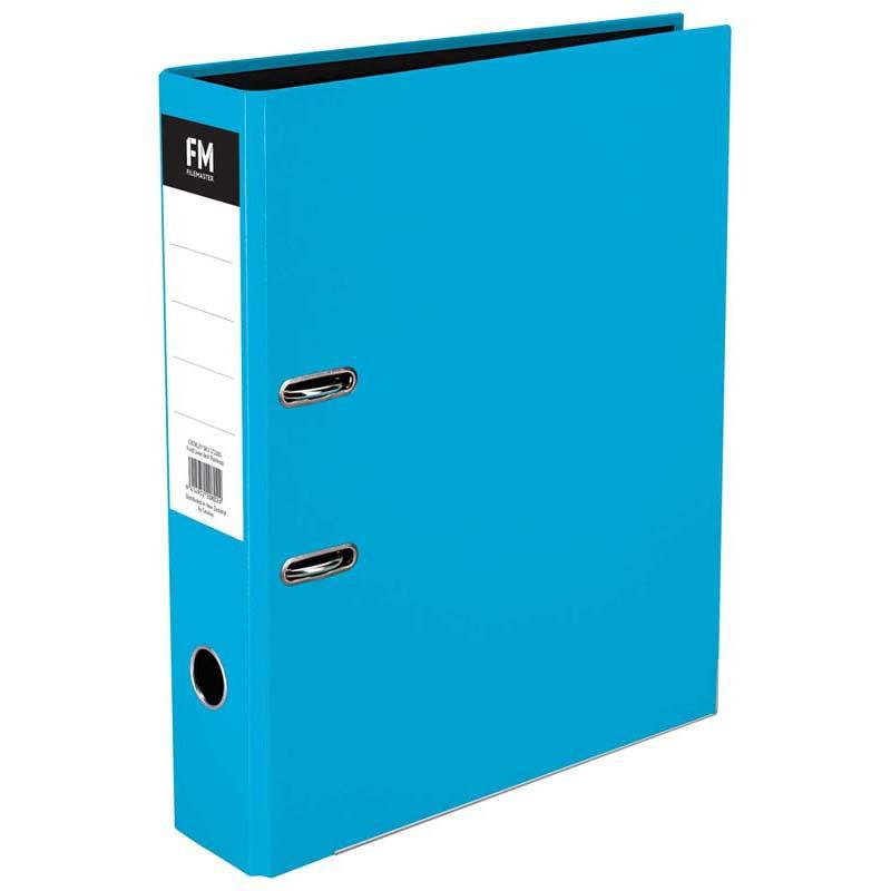 FM Binder Vivid Ice Blue Foolscap Lever Arch - Office Connect
