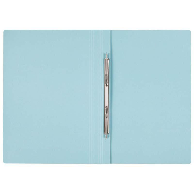 FM File Spring Foolscap Blue Narrow Coloured Manilla Card - Office Connect