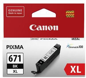 Canon CLI671XLBK Dye Black High Yield Ink Cartridge - Office Connect