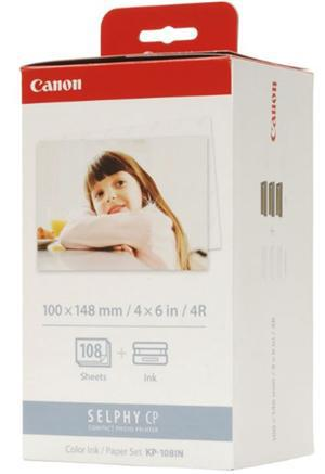 Canon KP-108IN Selphy 6x4 Photo Paper & Ink Kit - 108 Sheets - Office Connect