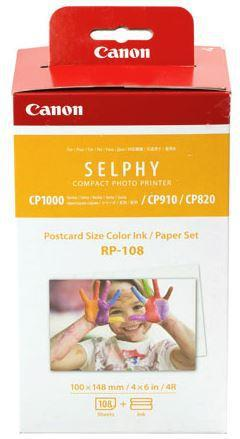 Canon RP-108 Selphy 6x4 Photo Paper & Ink Kit - 108 Sheets - Office Connect