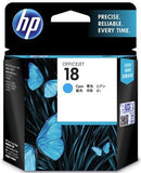 HP 18 Cyan Ink Cartridge - Office Connect