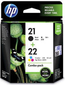 HP 21 Black /22 Tri-color Ink Cartridge COMBO PACK - Office Connect