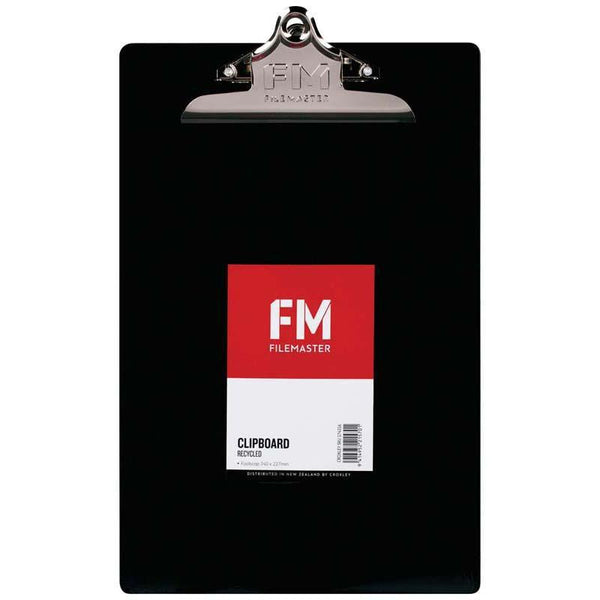 FM Clipboard Black Recycled Plastic Foolscap - Office Connect
