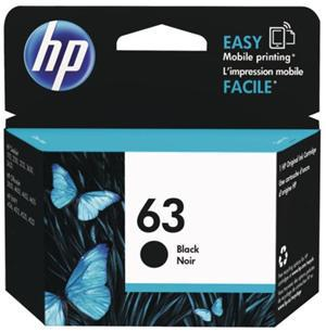 HP 63 Black Original Ink Cartridge - Office Connect
