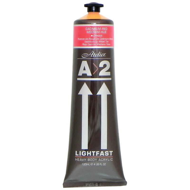 A2 Lightfast Heavybody Acrylic 120ml Cadmium Red Medium - Office Connect