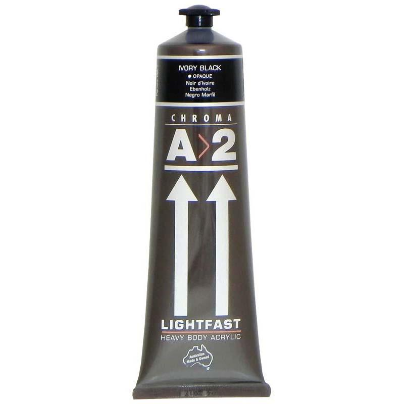 A2 Lightfast Heavybody Acrylic 120ml Ivory Black - Office Connect