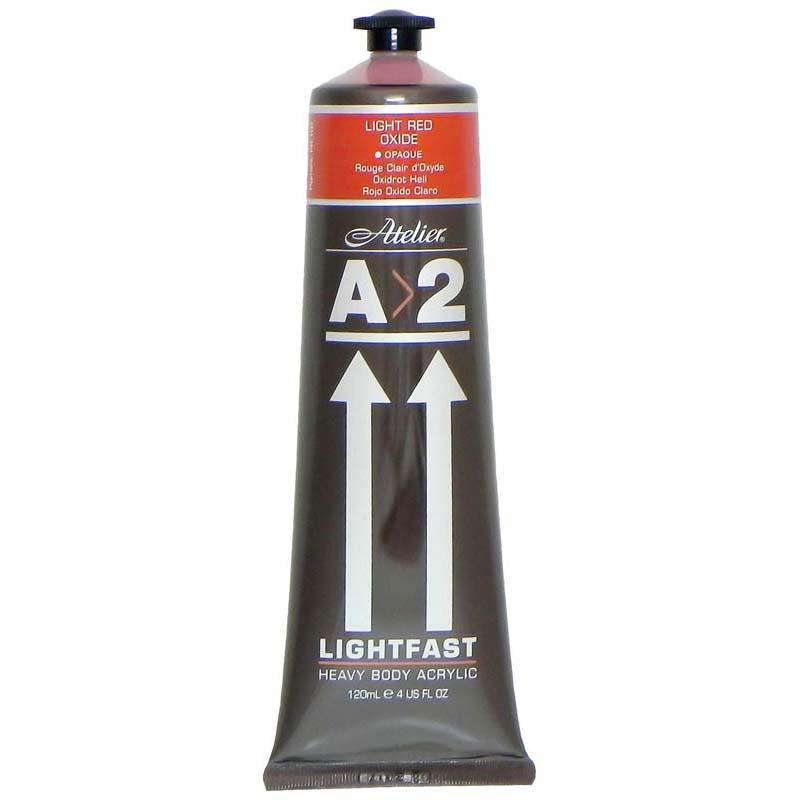 A2 Lightfast Heavybody Acrylic 120ml Light Red Oxide - Office Connect