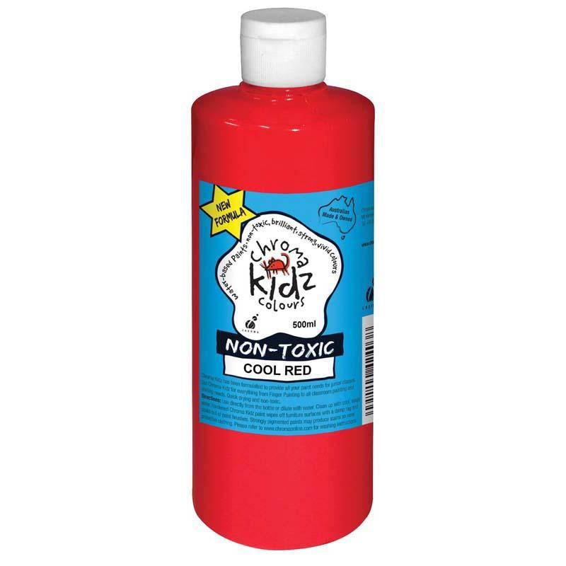 Chroma Kidz 500ml Cool Red - Office Connect
