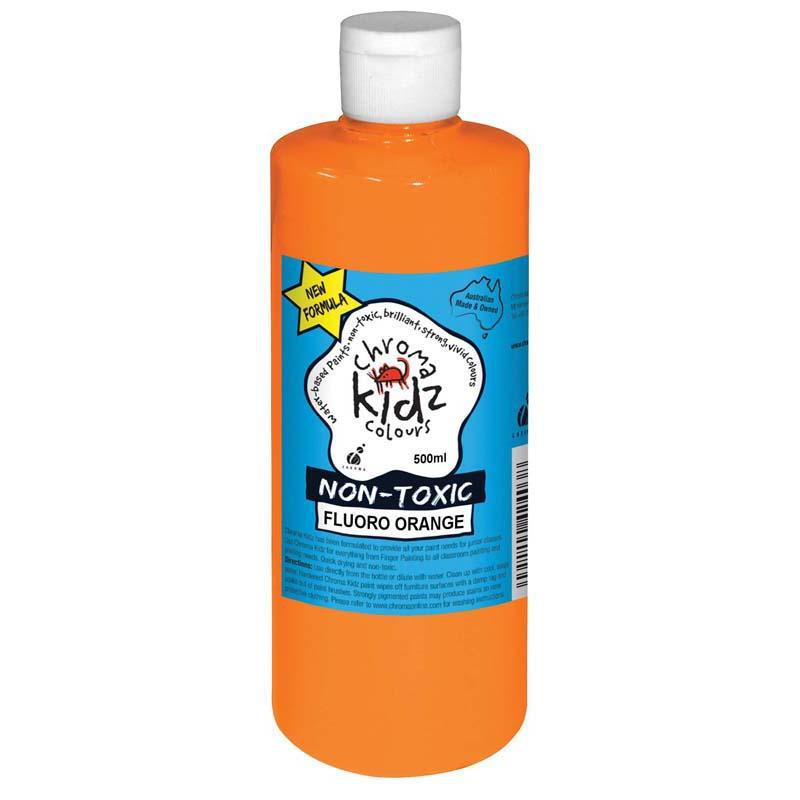 Chroma Kidz 500ml Fluoro Orange - Office Connect