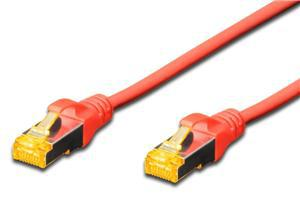 Digitus S-FTP CAT6A Patch Lead - 2M Red - Office Connect