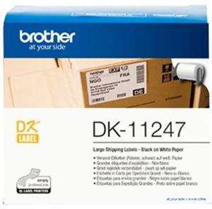Brother DK11247 180 Large Shipping Labels 103mm x 164mm - Office Connect