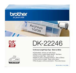 Brother DK22246 Continuous Paper Label Tape 103mm x 30.48m - Office Connect