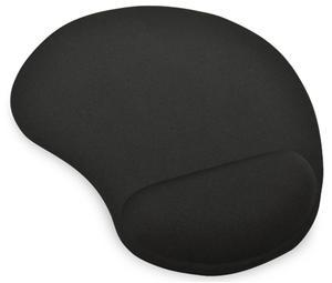Ednet Mouse Pad with Gel Wrist Rest - Black - Office Connect