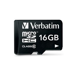 Verbatim Premium microSDHC UHS-I Class 10 Card with Adapter 16GB - Office Connect