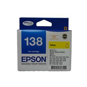 Epson 138 Yellow High Yield Ink Cartridge - Office Connect