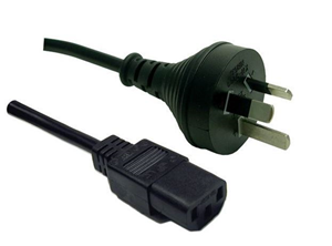 Power Cord 10A/250V IEC (F) to 3 Pin Power (M) 1.8m - Office Connect