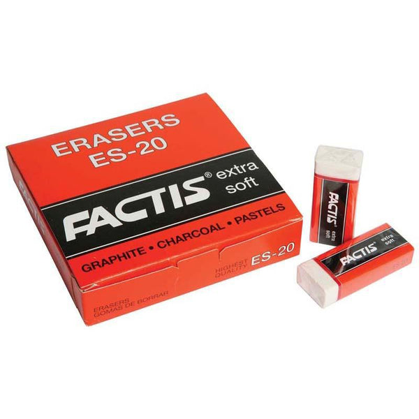 Factis Erasers ES20 Soft White Plastic - Office Connect