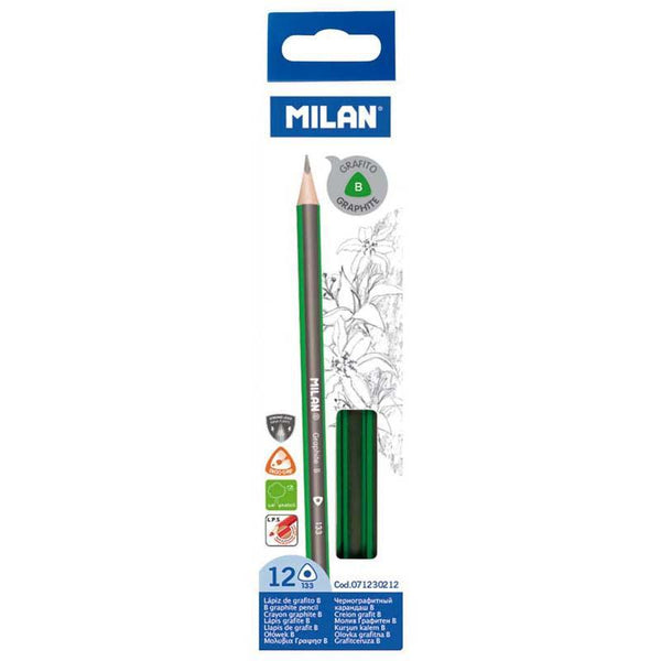 Milan Graphite Pencils B Pack 12 Triangular - Office Connect