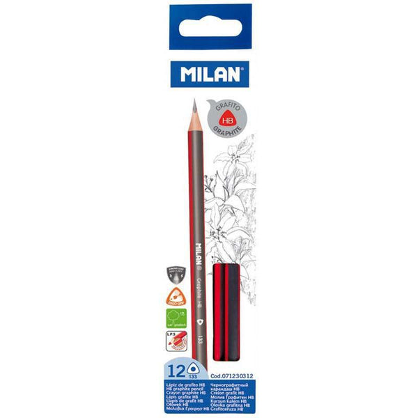 Milan Graphite Pencils HB Pack 12 Triangular - Office Connect