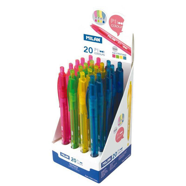 Milan Look Range Ballpoint Pens Assorted Colours - Office Connect