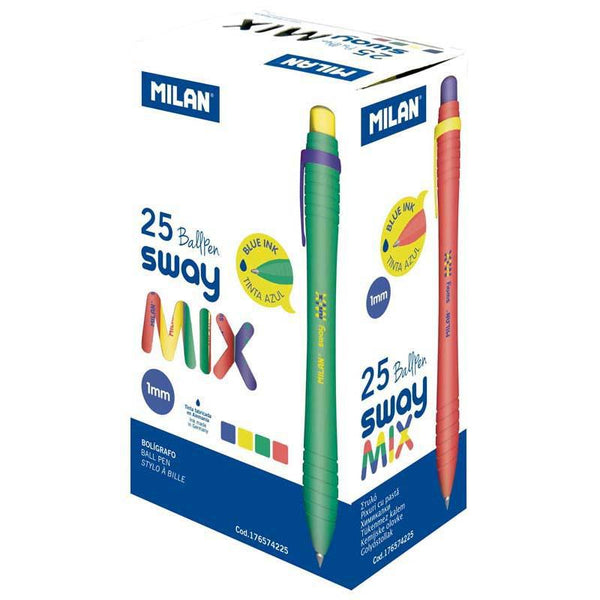 Milan Mix Range Ballpoint Pens Blue - Office Connect