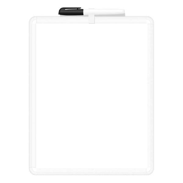 FM Whiteboard Non Magnetic 10010 Plastic Frame 216x279mm - Office Connect